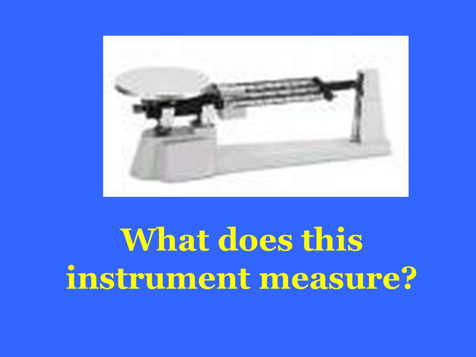What does this instrument measure?