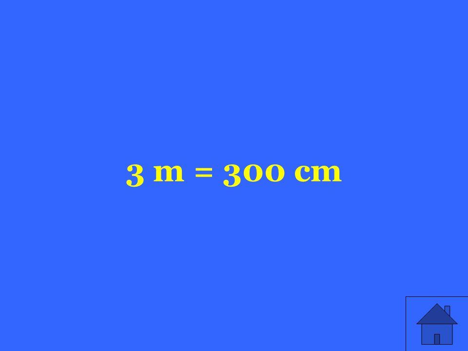 3 m = 300 cm