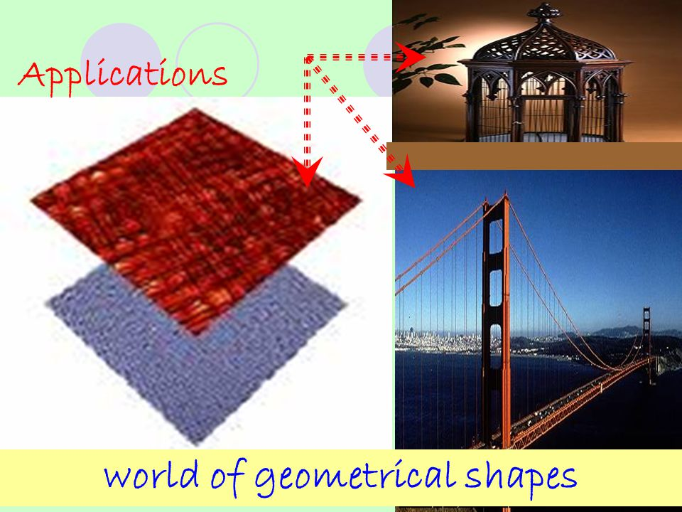 Applications world of geometrical shapes
