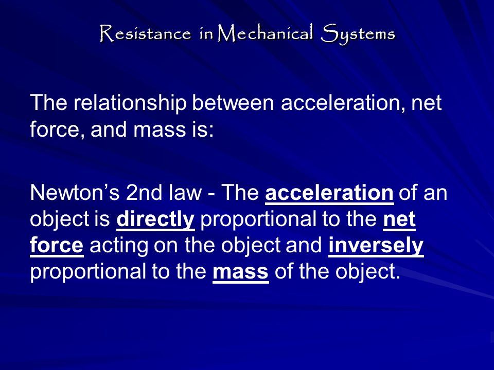 Newton's 2nd law equation = Net force = mass x acceleration F net = m x a Units of Force = Newtons (N) 1N = (1 kg) (1 m/s 2 ) = 1kg.