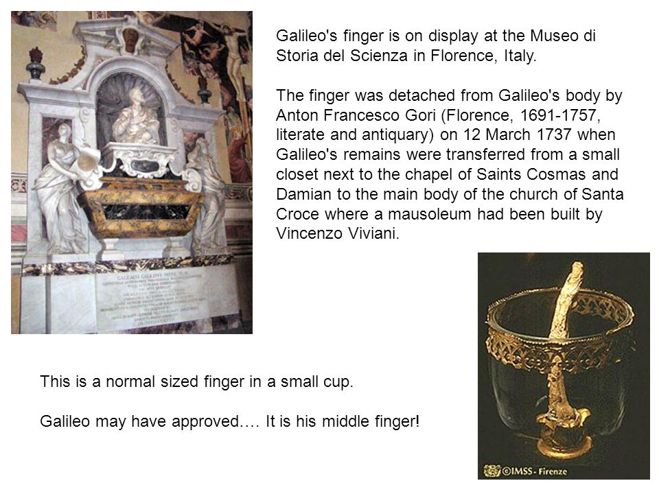 This is a normal sized finger in a small cup.Galileo may have approved….