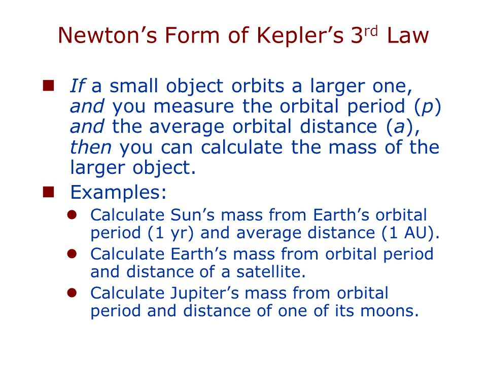 How does Newton's law of gravity extend Kepler's laws.