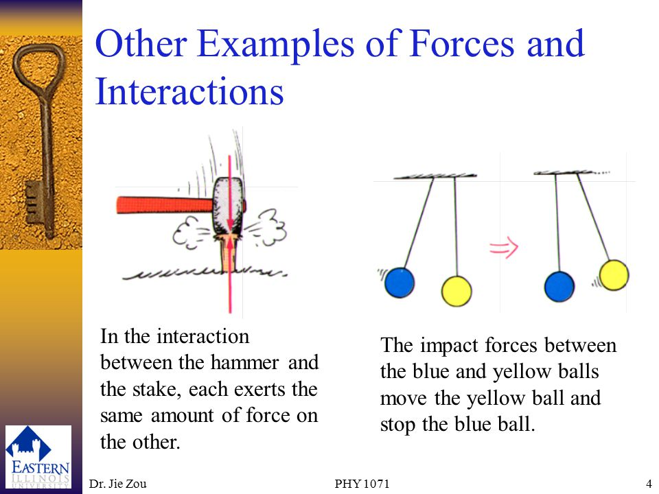 Dr.Jie ZouPHY 10715 Which Exerts the Force and Which Receives the Force.