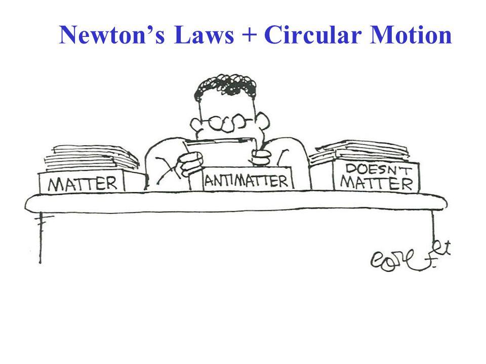 Newton's Laws + Circular Motion