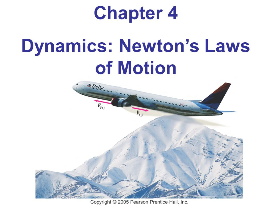 Chapter 4 Dynamics: Newton's Laws of Motion