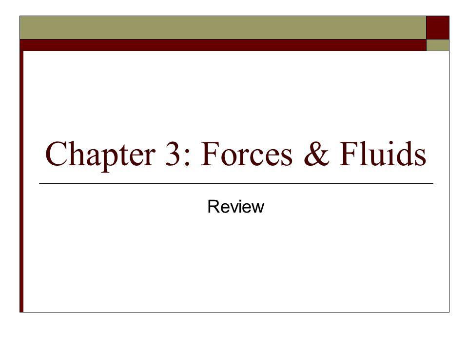 Chapter 3: Forces & Fluids Review