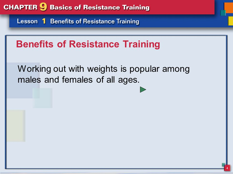 15 Resistance Training and Overload According to the overload principle, to improve a muscle's strength or endurance, you must first overload that muscle.