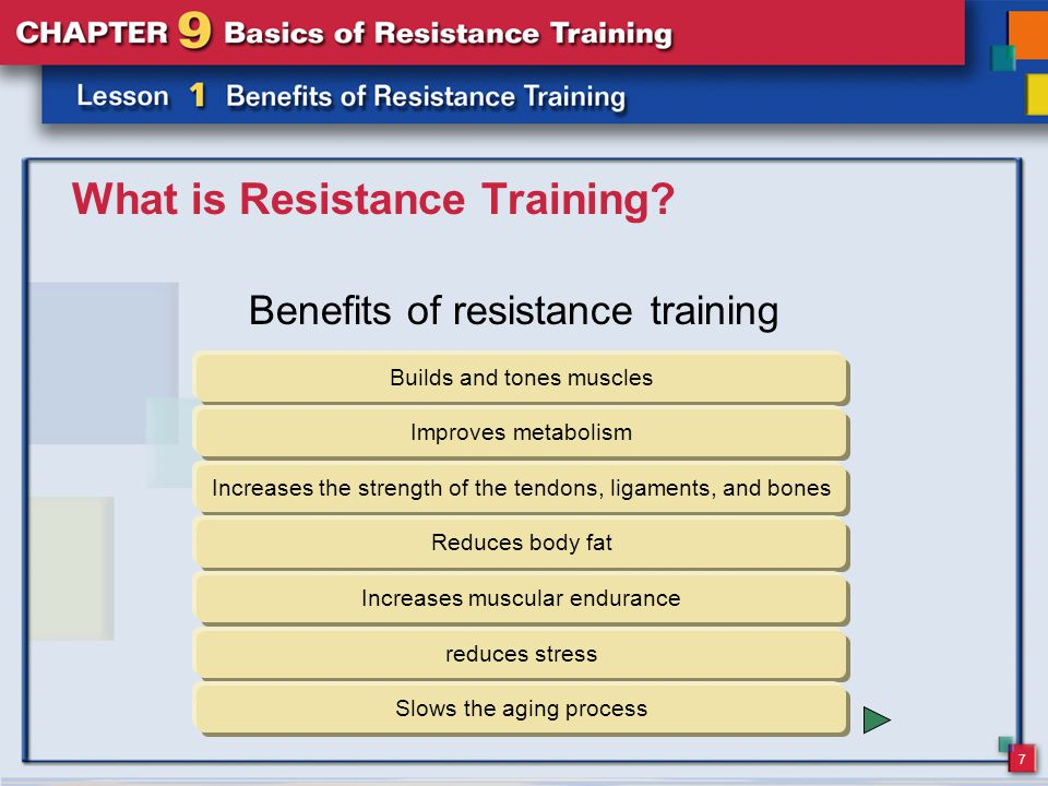 18 Lesson 1 Review 1.Vocabulary What is resistance training.