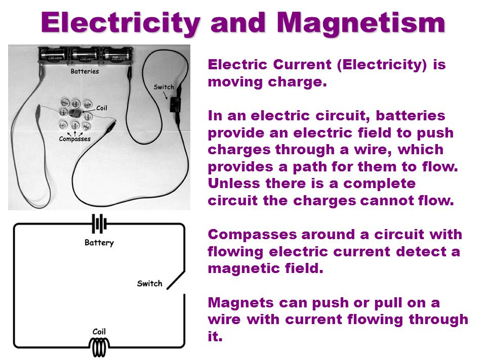Electric Current (Electricity) is moving charge.