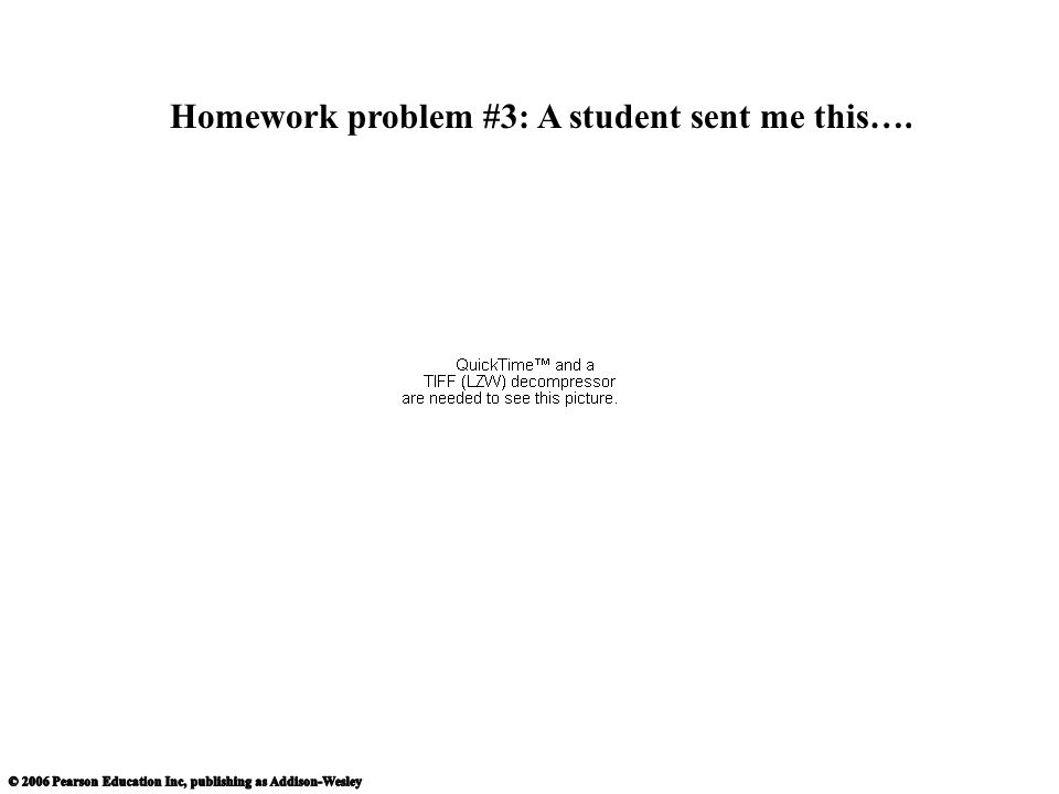 Homework problem #3: A student sent me this….