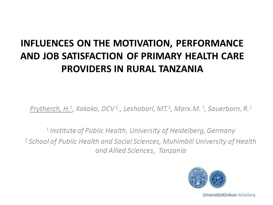 Conclusions Causes of discouragement can be broadly divided into those requiring renewed policy attention and those which could be addressed by: strengthening skills of rural facility managers enhancing the status of their role increasing their support from higher levels of the health system