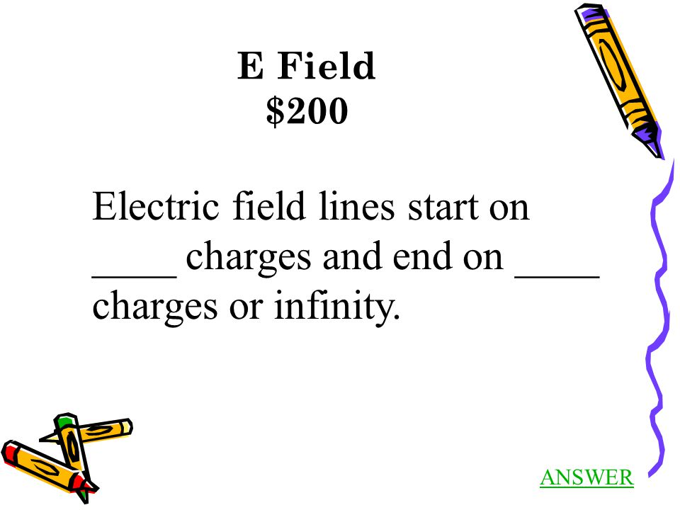 Basics $300 Answer Back to Jeopardy Conservation of Charge Net charge of universe is zero.