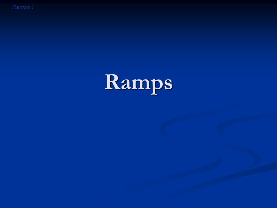 Ramps 32 Summary about Ramps Ramp supports most of the cart's weight Ramp supports most of the cart's weight You can easily balance the remaining ramp force You can easily balance the remaining ramp force You do work pushing the cart up the ramp You do work pushing the cart up the ramp Your work is independent of ramp's steepness Your work is independent of ramp's steepness The ramp provides mechanical advantage The ramp provides mechanical advantage It allows you to push less hard It allows you to push less hard but you must push for a longer distance but you must push for a longer distance