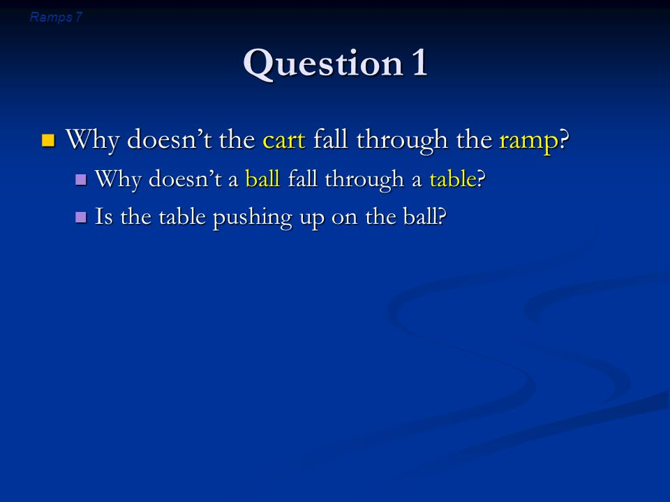 Ramps 18 Introductory Question (revisited) Can a ball ever push downward on a table with a force greater than the ball's weight.