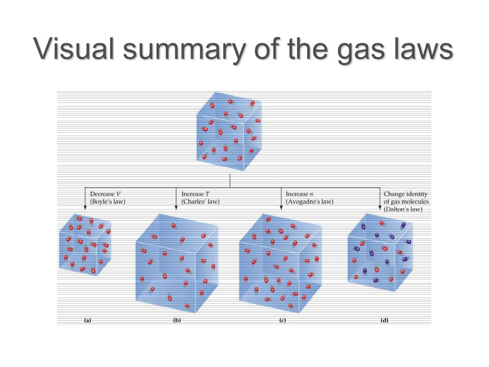 Visual summary of the gas laws