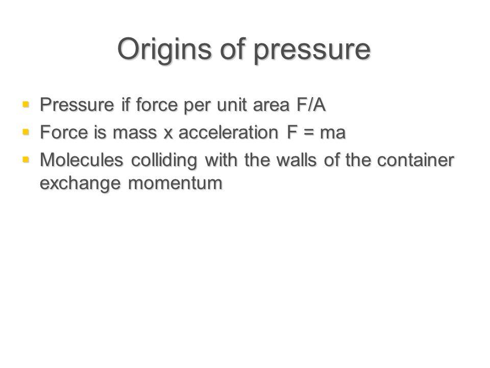 Units of pressure  The S.I.