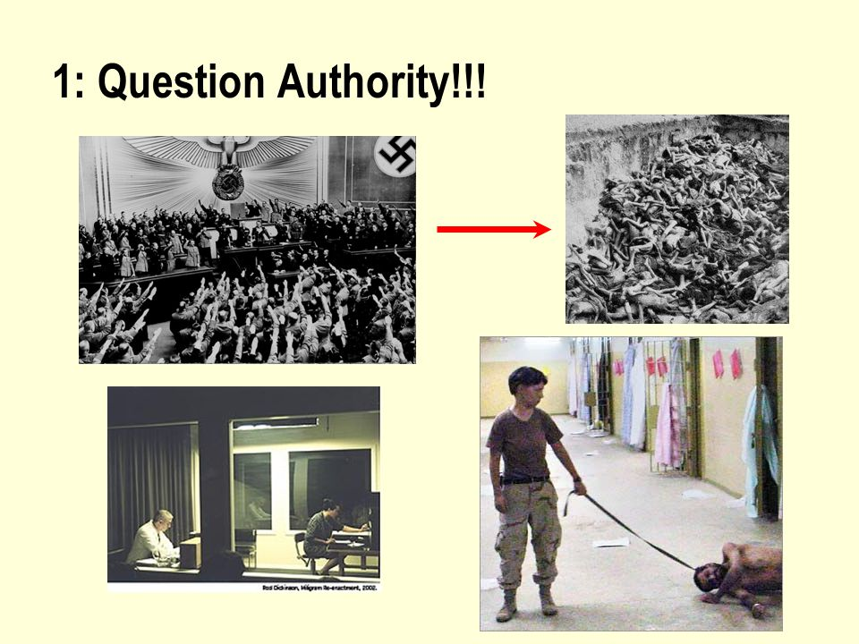 1: Question Authority!!!