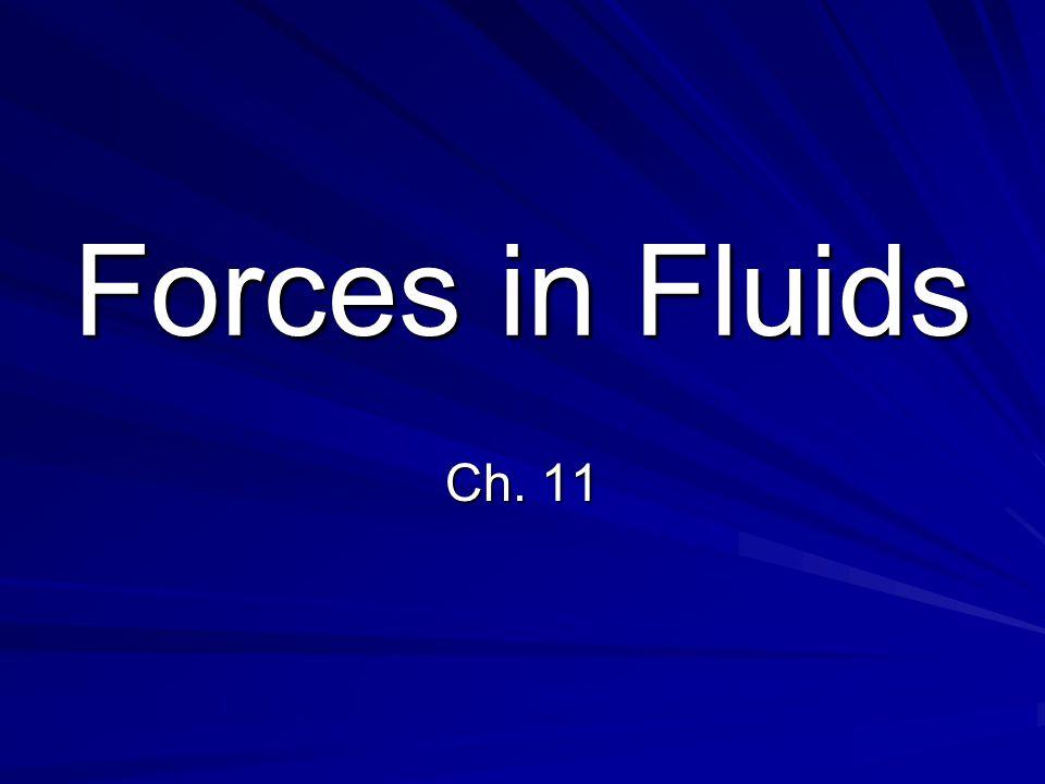 Forces in Fluids Ch. 11