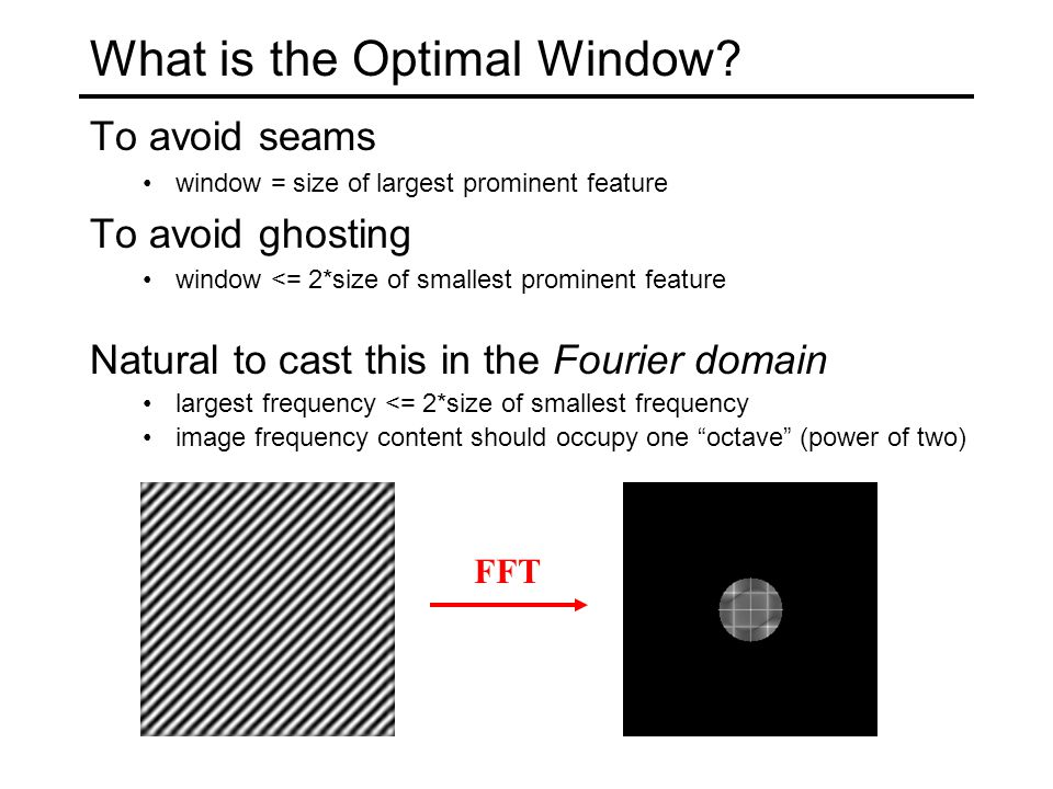 What is the Optimal Window.