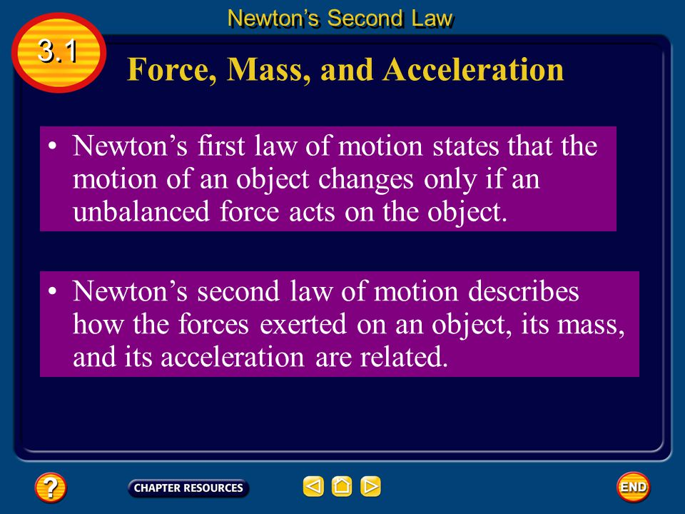 Friction 3.1 Newton's Second Law Friction- force that opposes the motion of two surfaces that are touching each other.