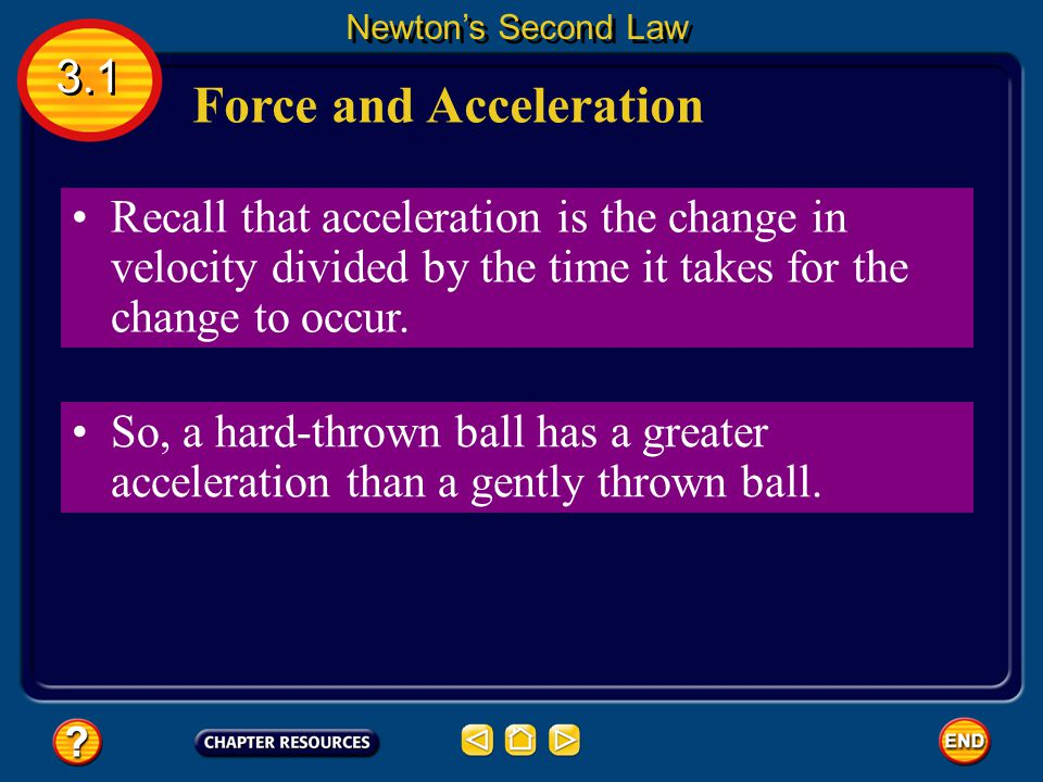 Force and Changing Momentum Recall that acceleration is the difference between the initial and final velocity, divided by the time.
