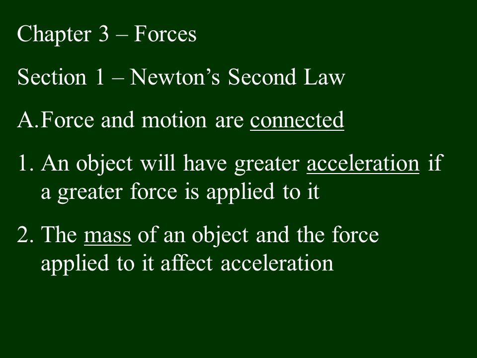 Section 3 – The Third Law of Motion