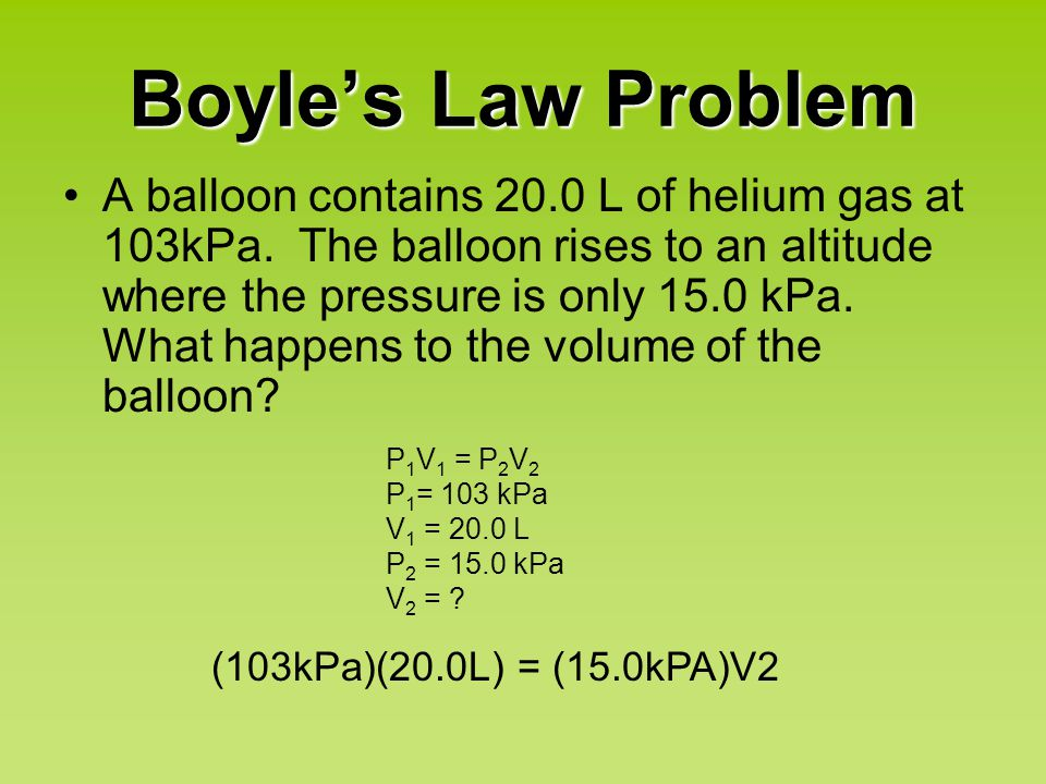 Charles' Law When pressure is held constant, the volume and temperature of a gas are directly proportional.