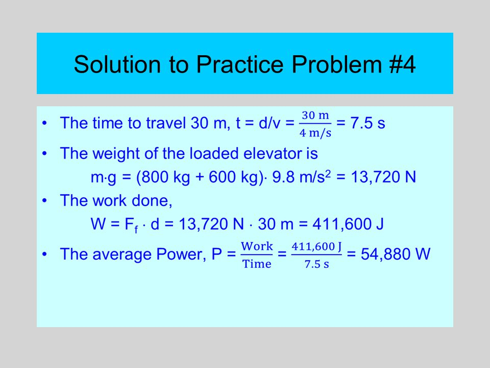 Solution to Practice Problem #4