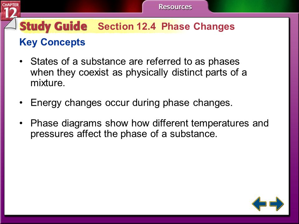 Study Guide 3 Section 12.3 Liquids and Solids Key Concepts The kinetic-molecular theory explains the behavior of solids and liquids.