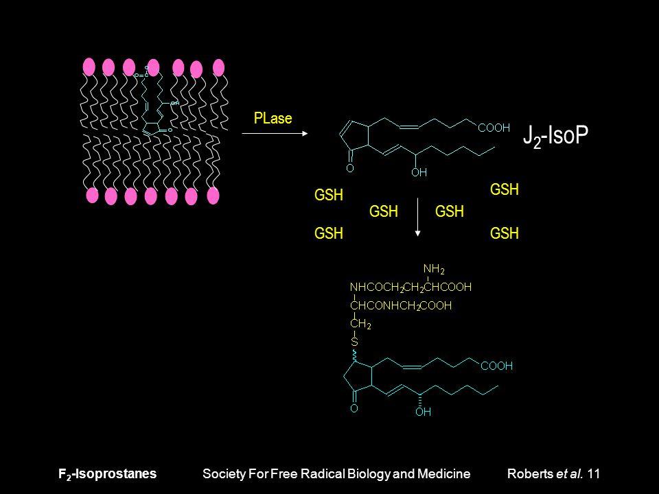 F 2 -Isoprostanes Society For Free Radical Biology and Medicine Roberts et al. 11 PLase J 2 -IsoP GSH