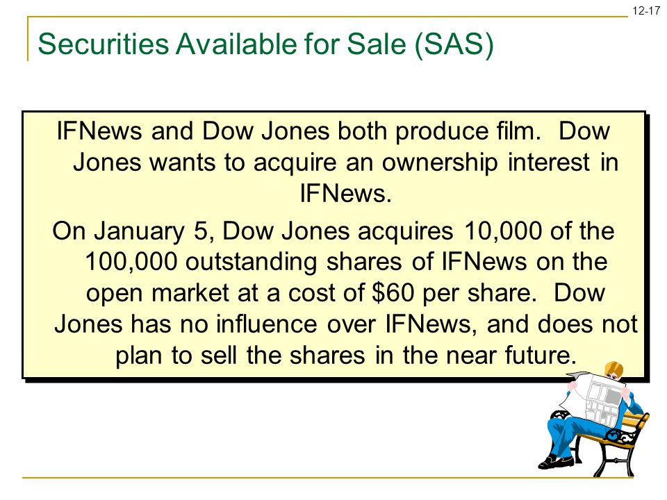 12-17 Securities Available for Sale (SAS) IFNews and Dow Jones both produce film.