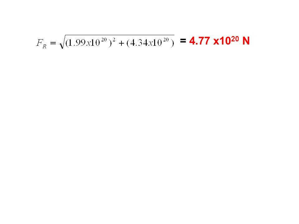 = 4.77 x10 20 N