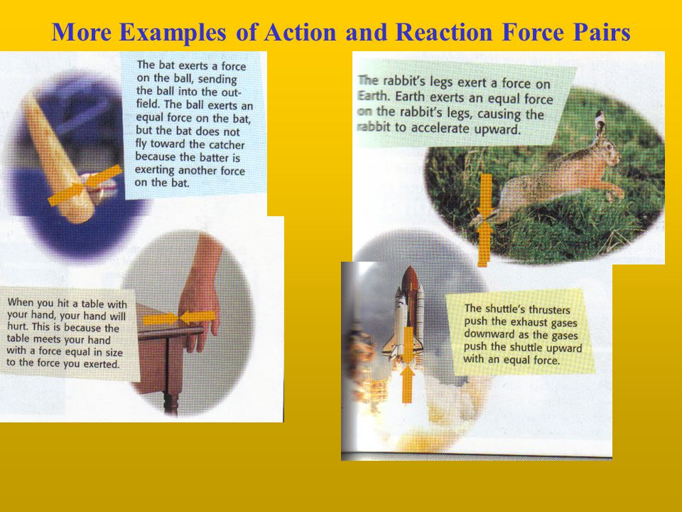 Force Pairs Do Not Act on the Same Object Remember: A force is always exerted by one object on another object.