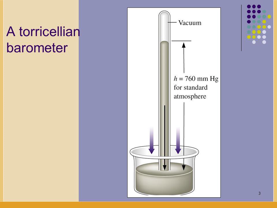 3 A torricellian barometer