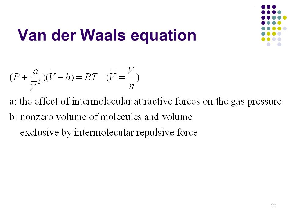 60 Van der Waals equation