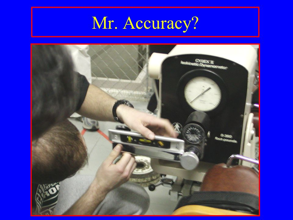 Mr. Accuracy