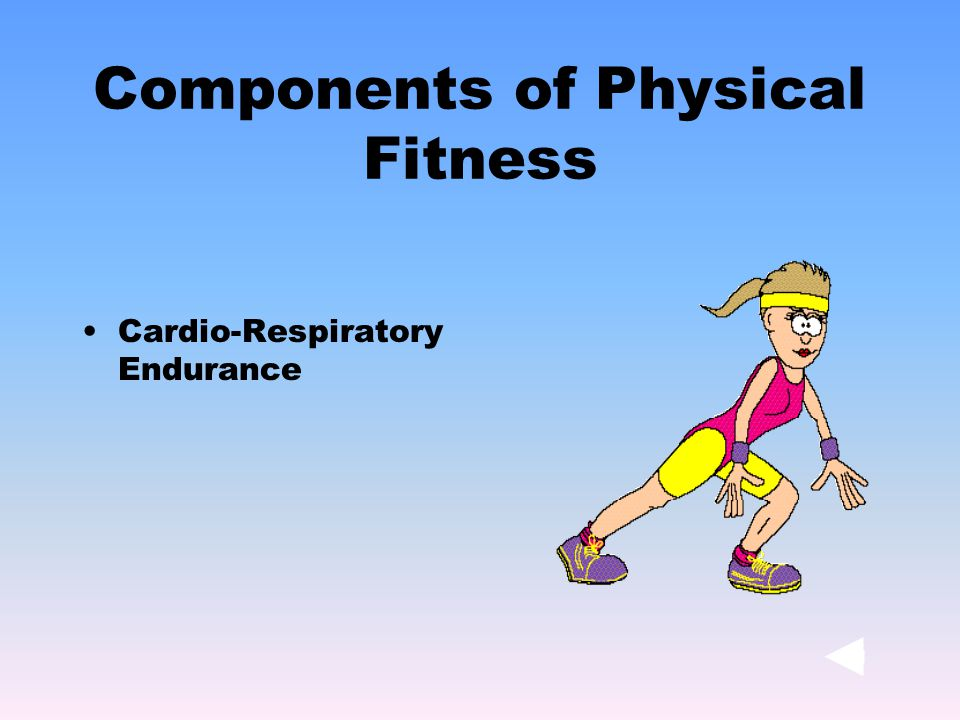 Cardio-Respiratory Endurance Components of Physical Fitness