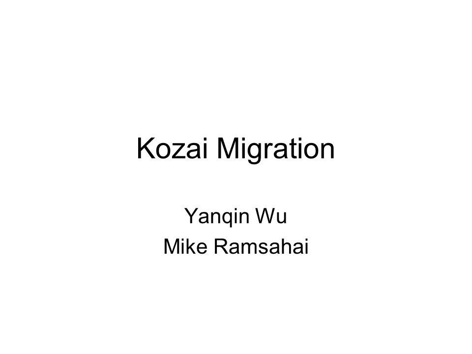 Kozai Migration Yanqin Wu Mike Ramsahai