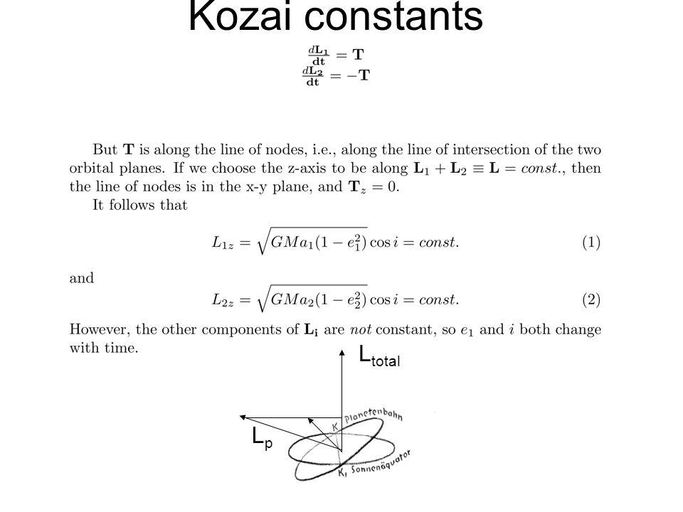 Kozai constants LpLp L total