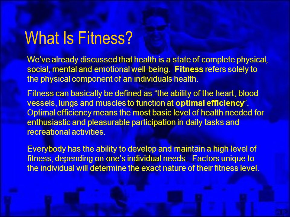 What Is Fitness.