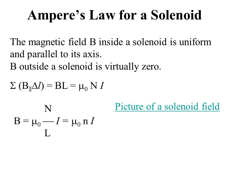 Summary Ampere's law is a relation between the current in an arbitrarily shaped wire and the magnetic field produced by the wire.
