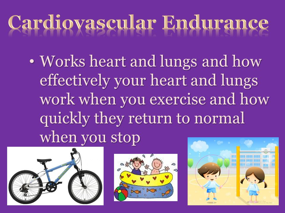 Works heart and lungs and how effectively your heart and lungs work when you exercise and how quickly they return to normal when you stop Works heart and lungs and how effectively your heart and lungs work when you exercise and how quickly they return to normal when you stop