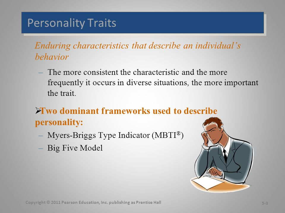 The Myers-Briggs Type Indicator  Most widely used instrument in the world.