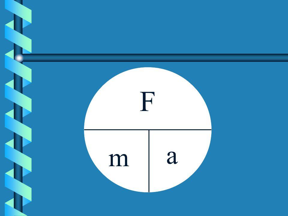 F m a