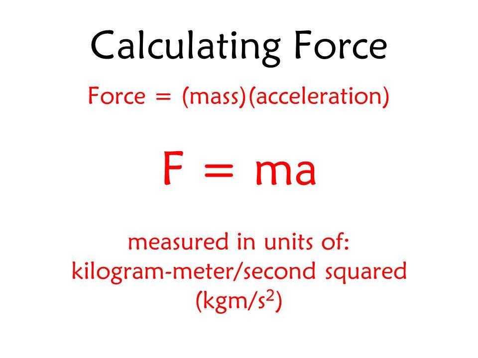 kilogram-meter/second squared a.k.a. Newton (N)