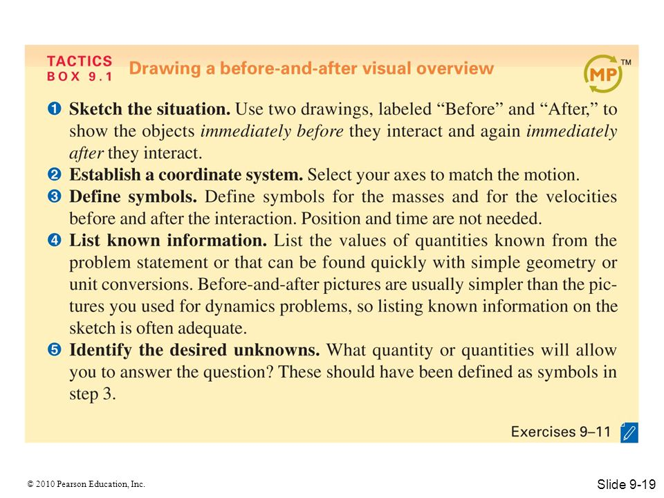 © 2010 Pearson Education, Inc. Slide 9-19