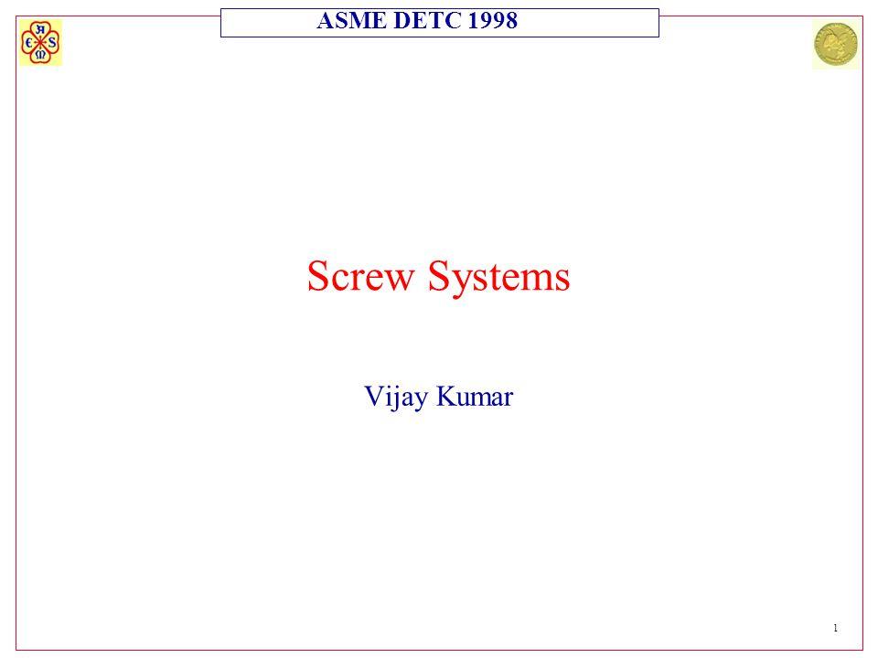 ASME DETC 1998 1 Screw Systems Vijay Kumar