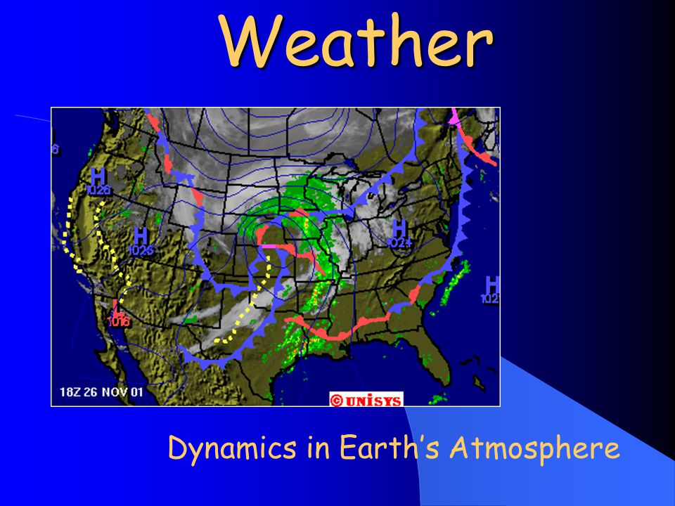 Weather Dynamics in Earth's Atmosphere