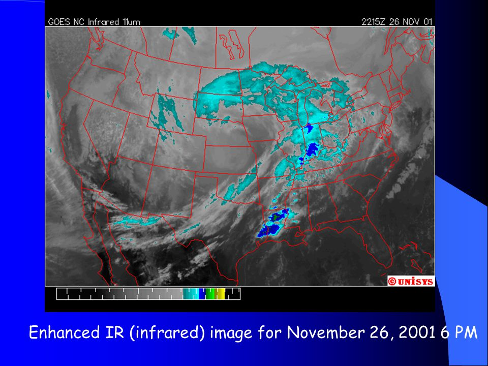 Enhanced IR (infrared) image for November 26, 2001 6 PM