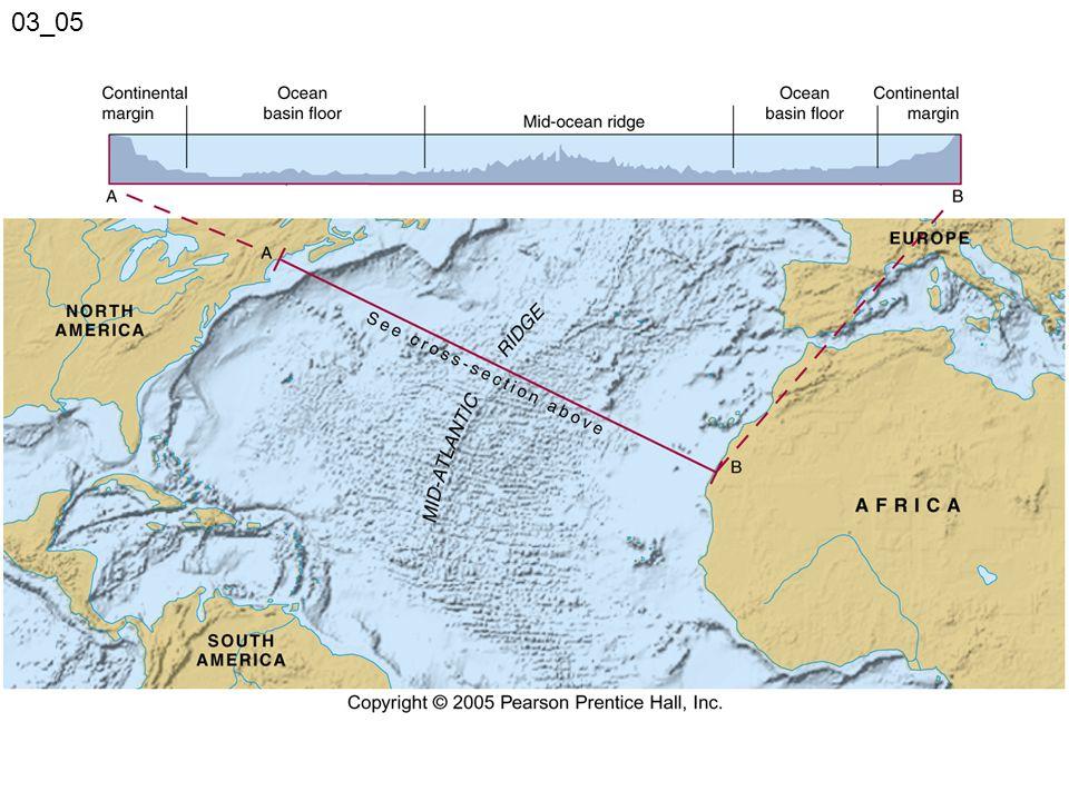 Oceanic ridges The deep-ocean floor consists of oceanic ridge systems and adjacent sediment-covered plains.
